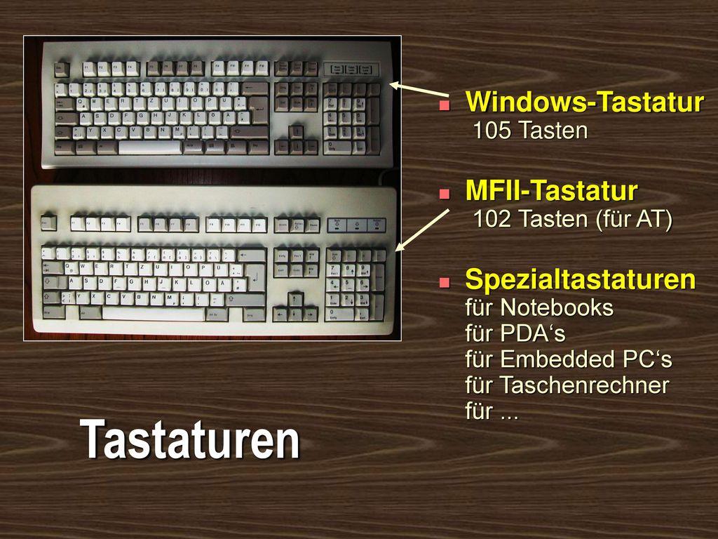 Tastaturen Windows-Tastatur 105 Tasten
