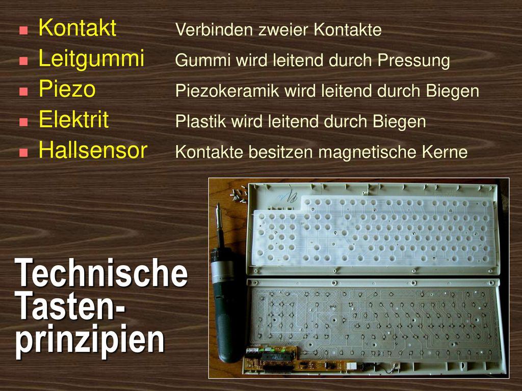 Technische Tasten-prinzipien
