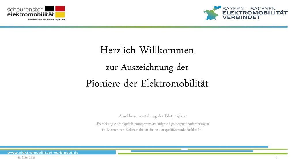 Herzlich Willkommen zur Auszeichnung der Pioniere der Elektromobilität