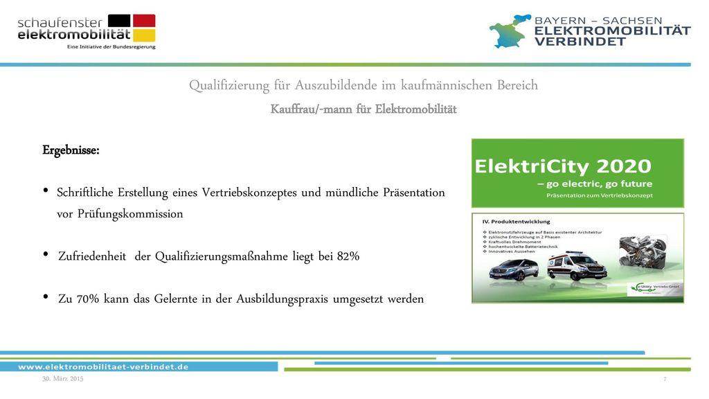 Kauffrau/-mann für Elektromobilität