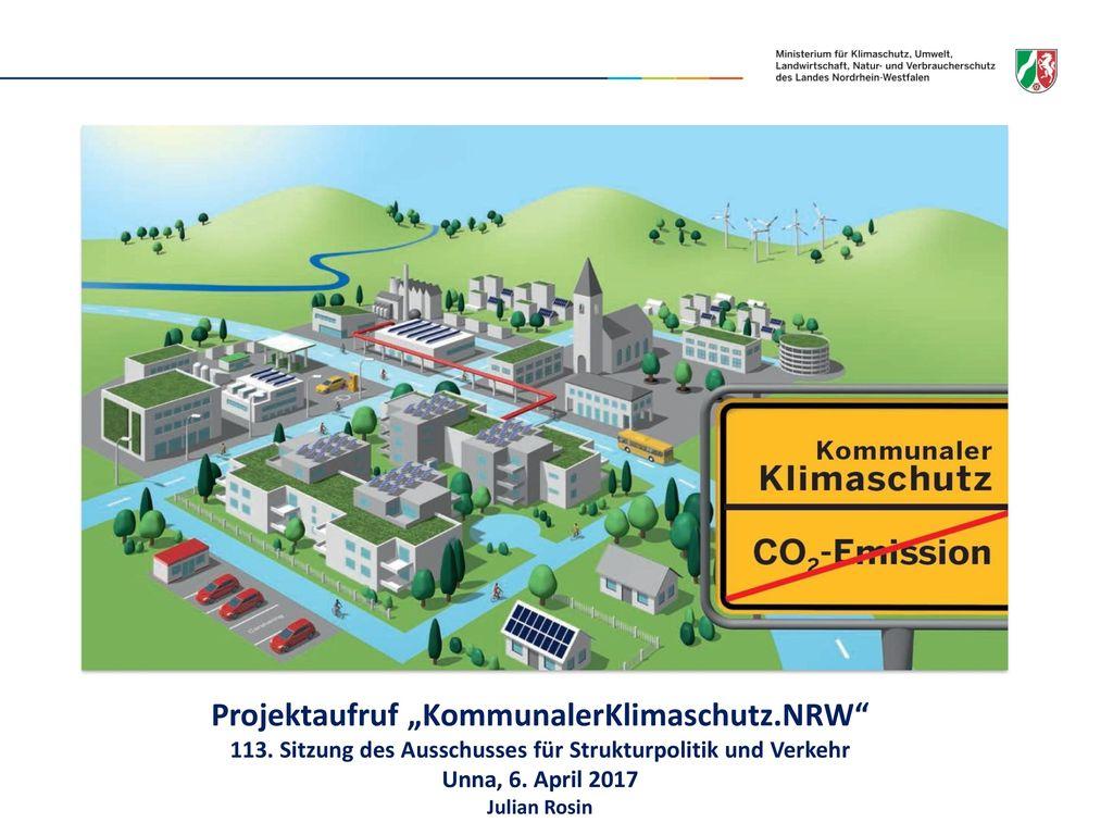 """Projektaufruf """"KommunalerKlimaschutz.NRW"""