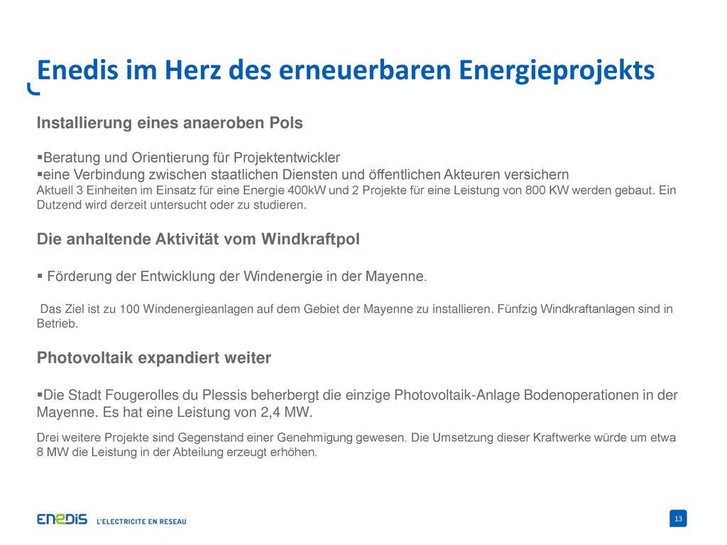 Enedis im Herz des erneuerbaren Energieprojekts
