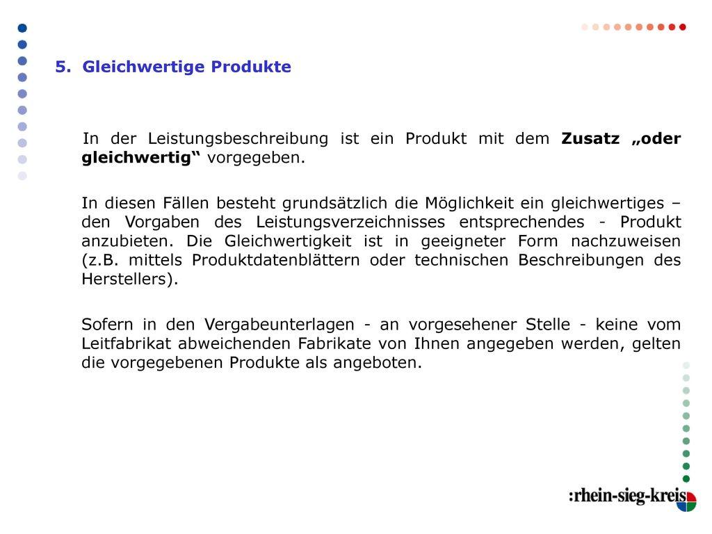 5. Gleichwertige Produkte