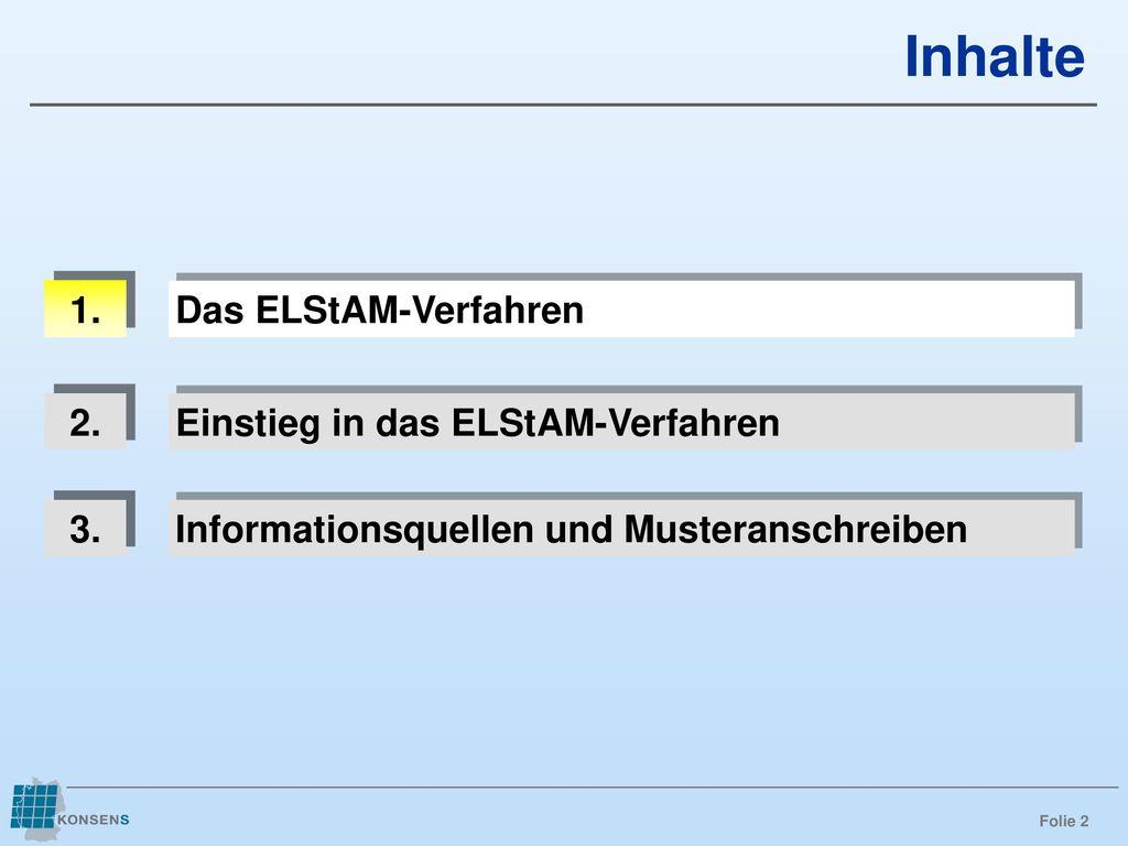 Inhalte 1. Das ELStAM-Verfahren 2. Einstieg in das ELStAM-Verfahren 3.