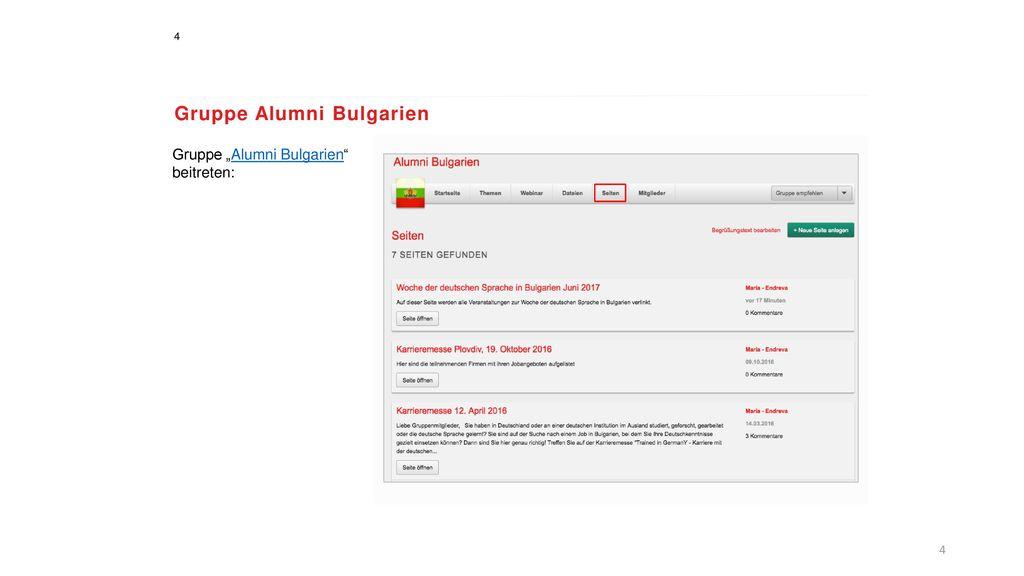 Gruppe Alumni Bulgarien
