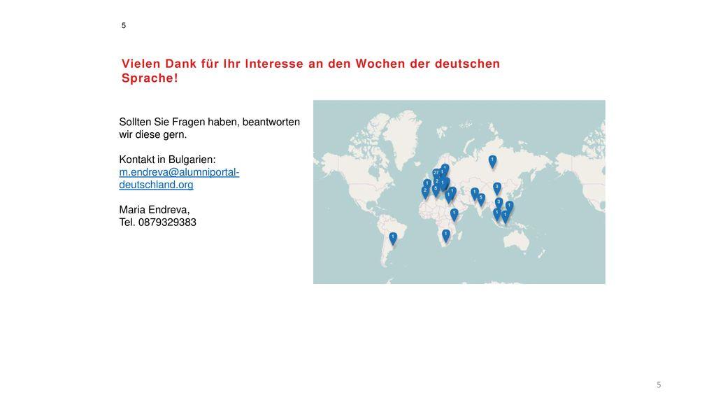 Vielen Dank für Ihr Interesse an den Wochen der deutschen Sprache!