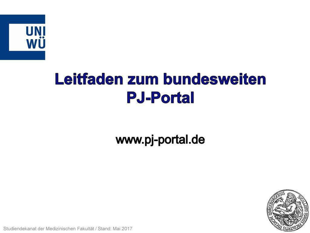 Leitfaden zum bundesweiten PJ-Portal