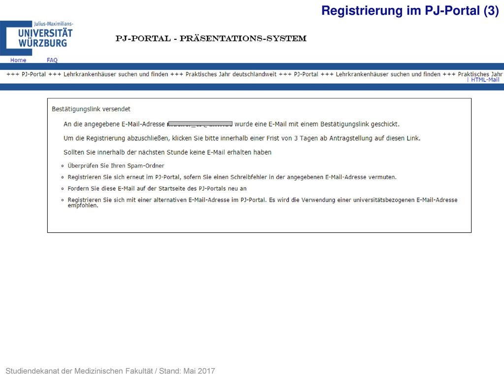 Registrierung im PJ-Portal (3)