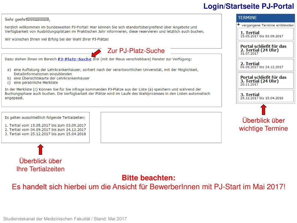 Login/Startseite PJ-Portal