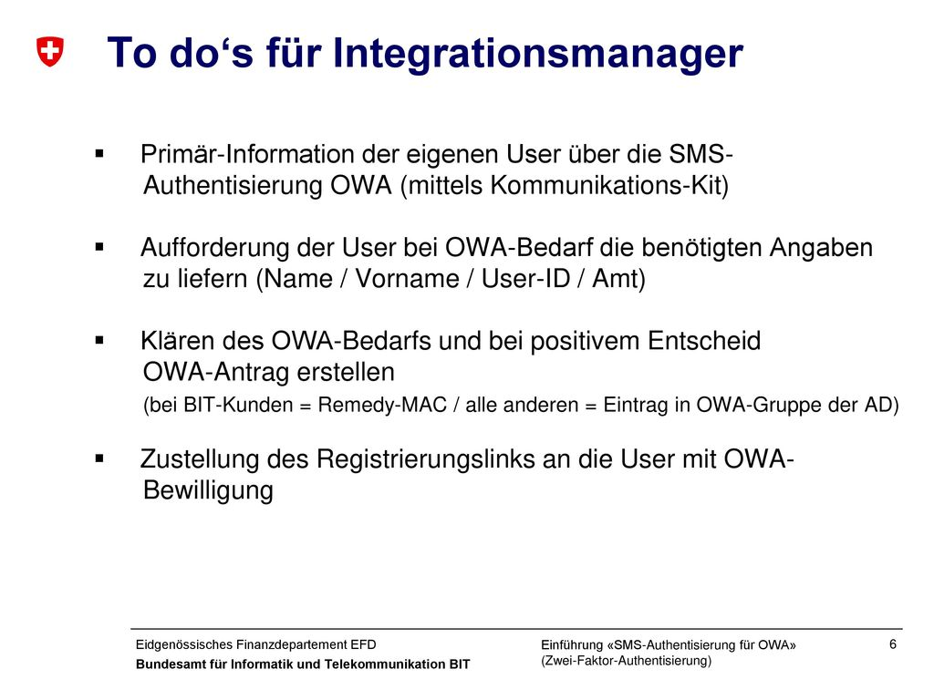 To do's für Integrationsmanager