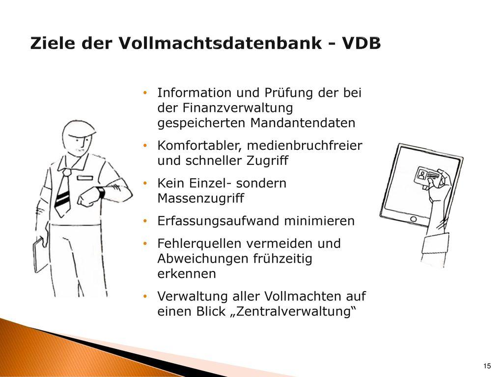 Ziele der Vollmachtsdatenbank - VDB