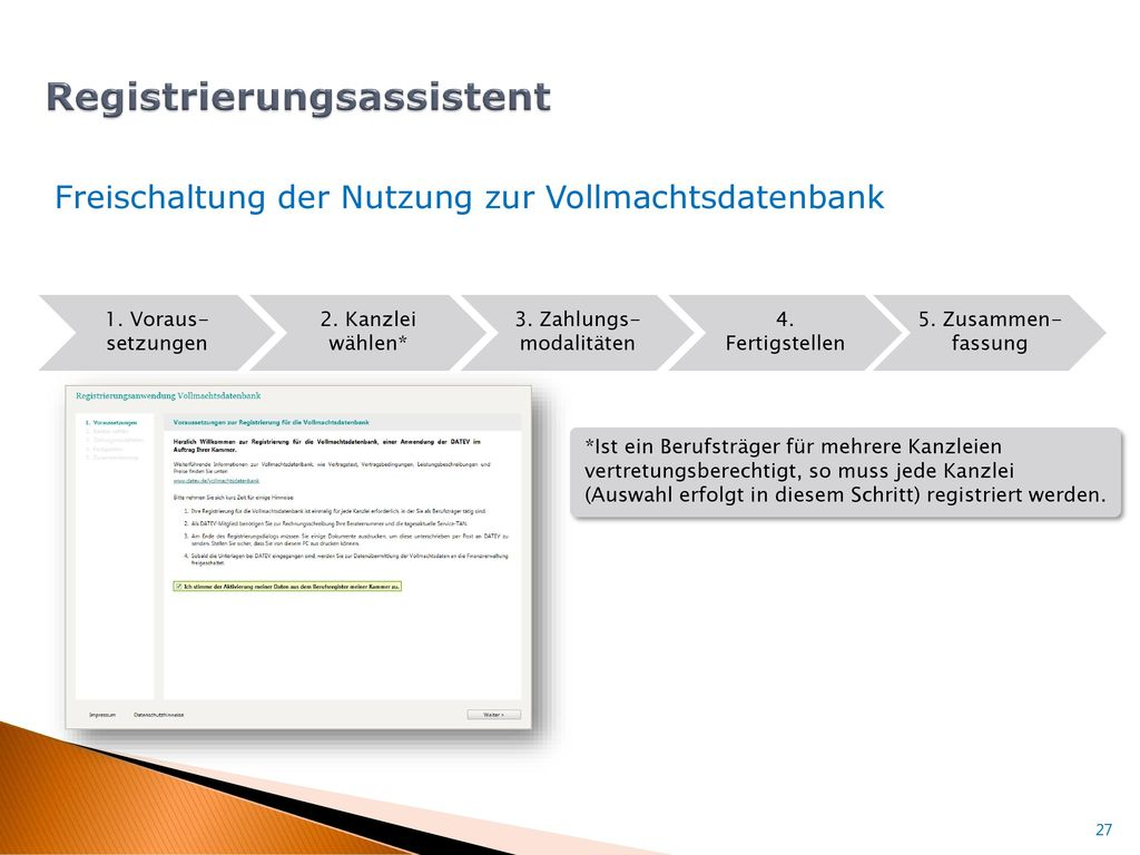 Registrierungsassistent