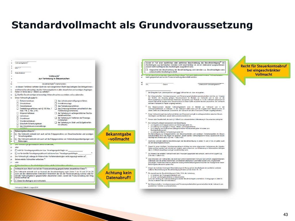Anwendung der Vollmachtsdatenbank