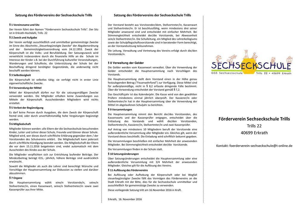 Förderverein Sechseckschule Trills
