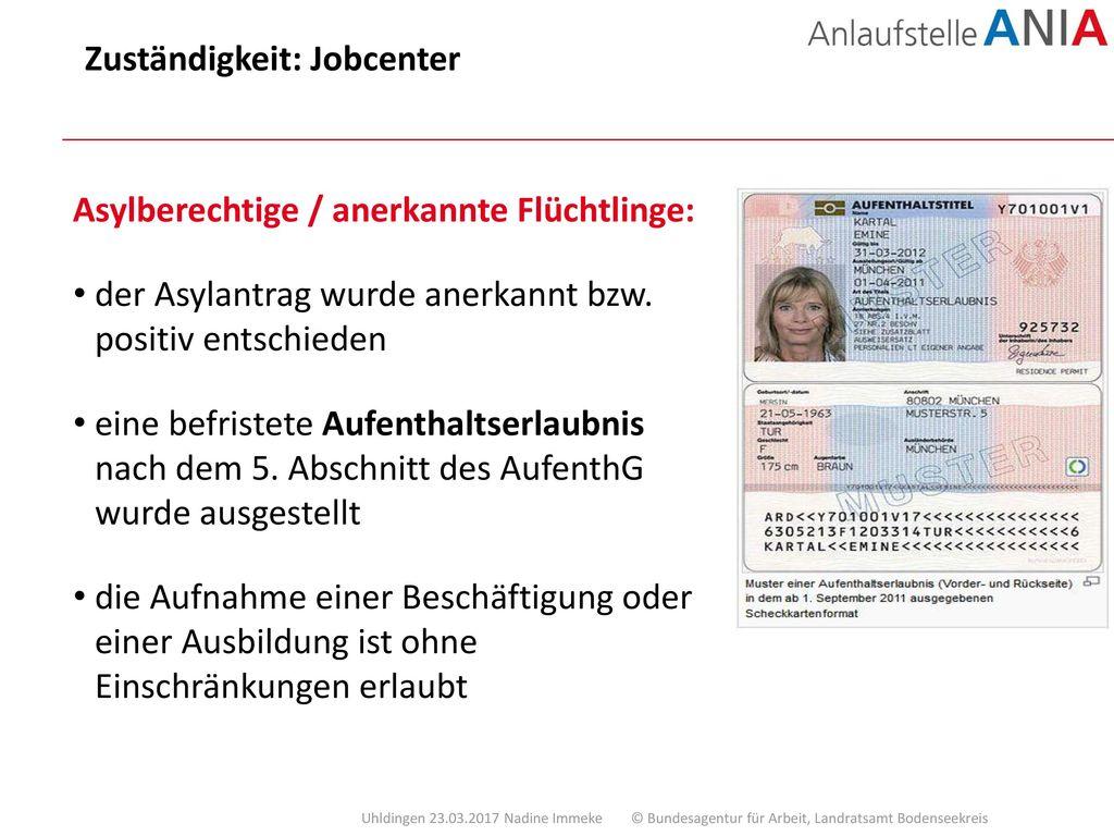 Zuständigkeit: Jobcenter