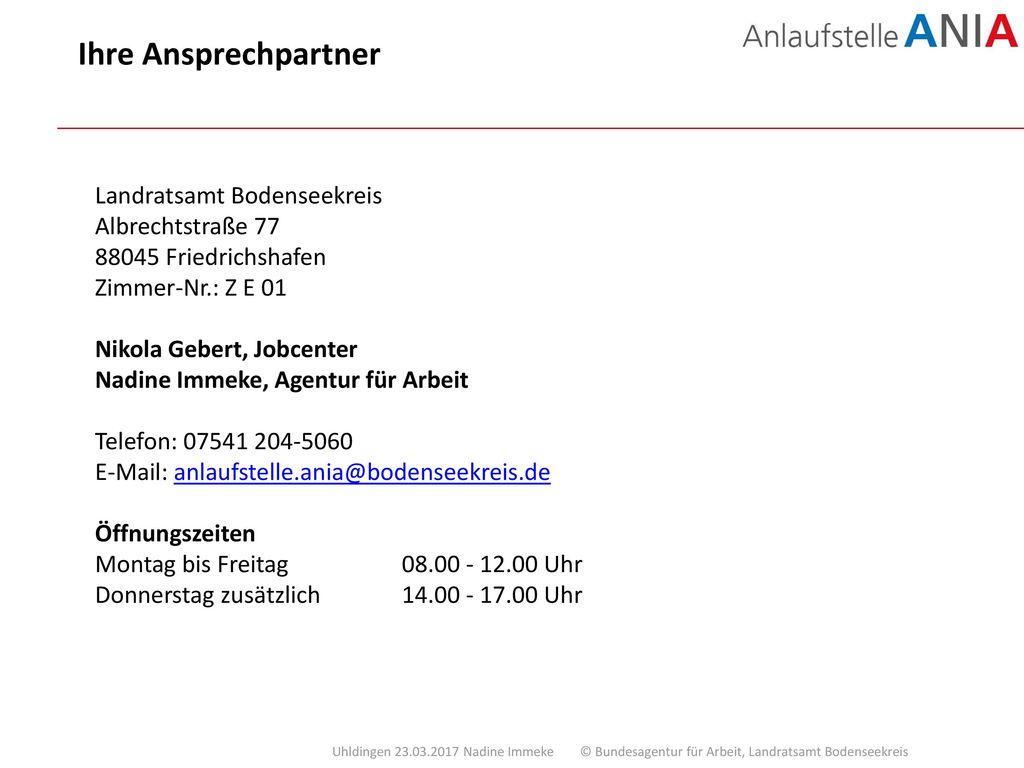 Ihre Ansprechpartner Landratsamt Bodenseekreis Albrechtstraße 77