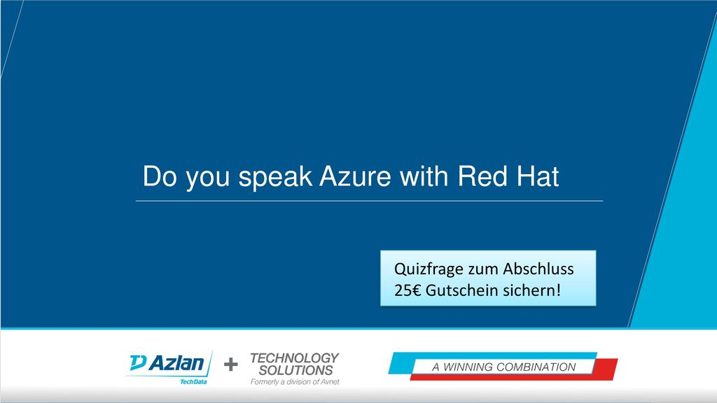 Do you speak Azure with Red Hat