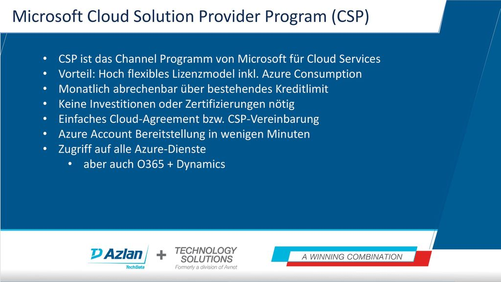Microsoft Cloud Solution Provider Program (CSP)