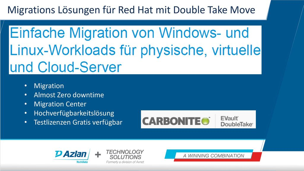 Migrations Lösungen für Red Hat mit Double Take Move
