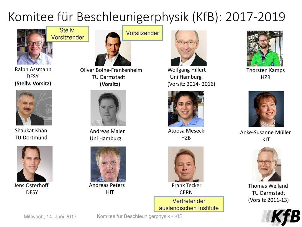 Komitee für Beschleunigerphysik (KfB): 2017-2019