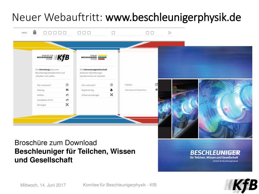 Neuer Webauftritt: www.beschleunigerphysik.de