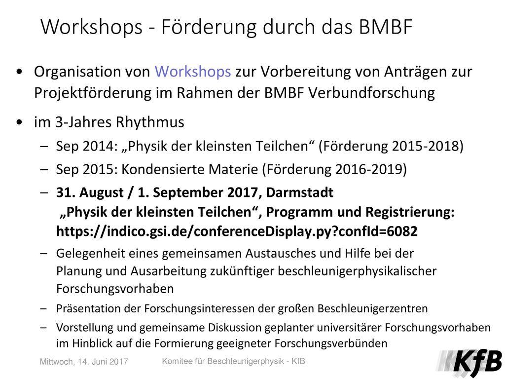 Workshops - Förderung durch das BMBF