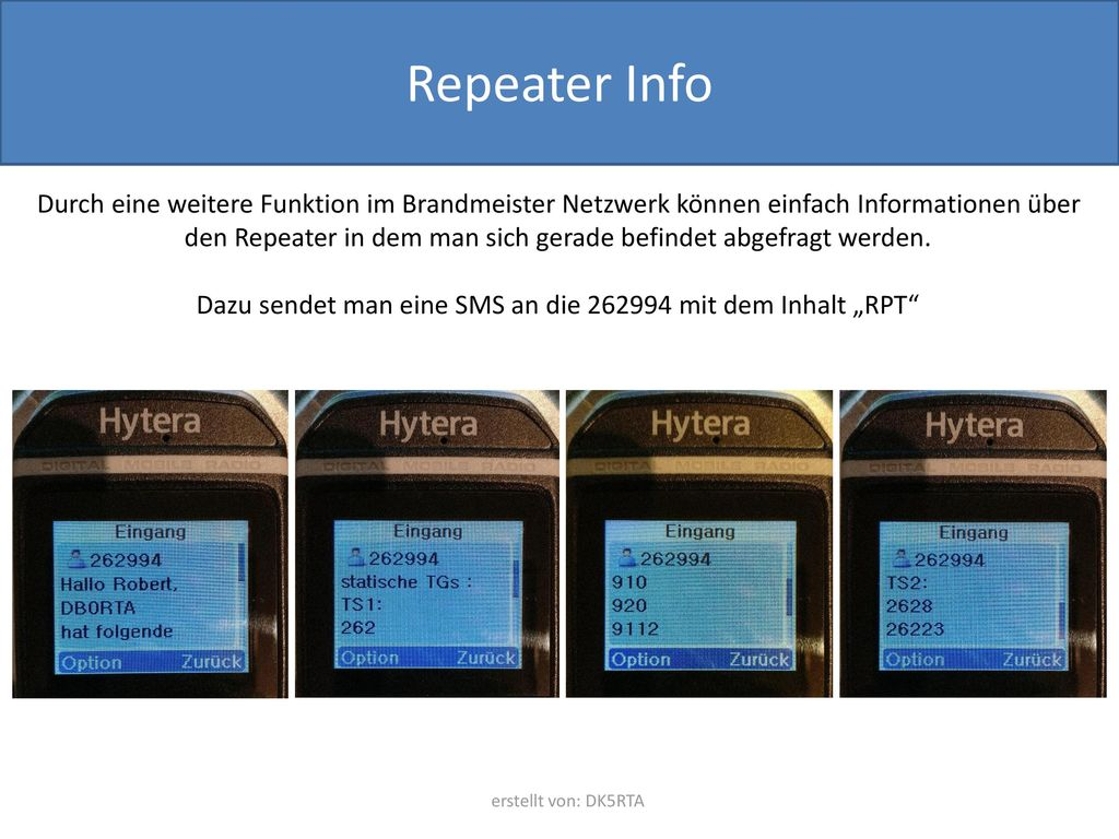"""Dazu sendet man eine SMS an die 262994 mit dem Inhalt """"RPT"""