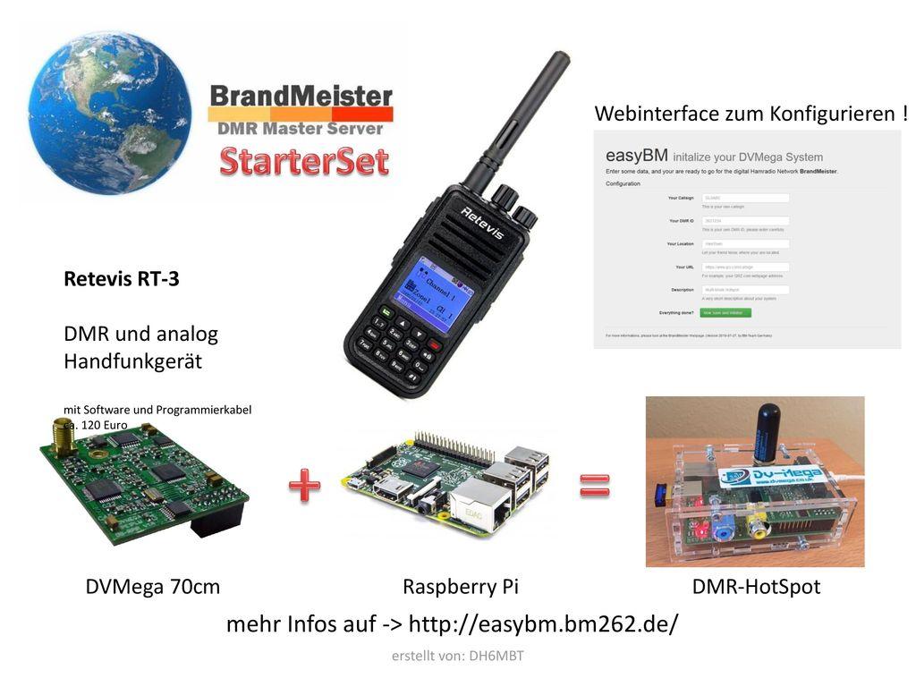 + = StarterSet mehr Infos auf -> http://easybm.bm262.de/