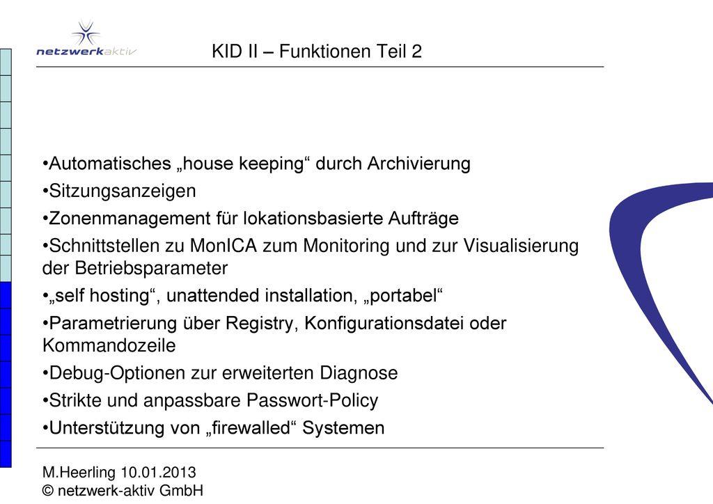 KID II – Funktionen Teil 2
