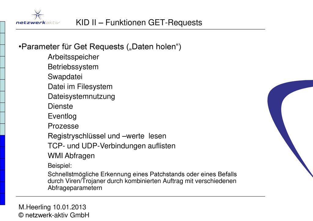 KID II – Funktionen GET-Requests