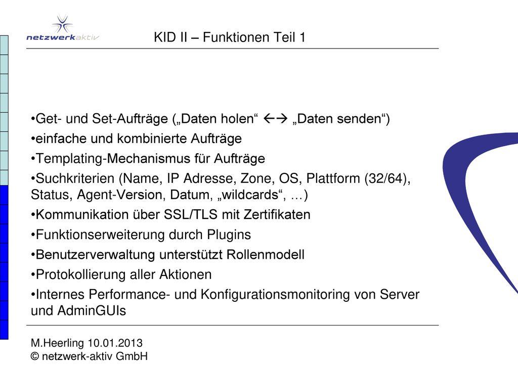 KID II – Funktionen Teil 1