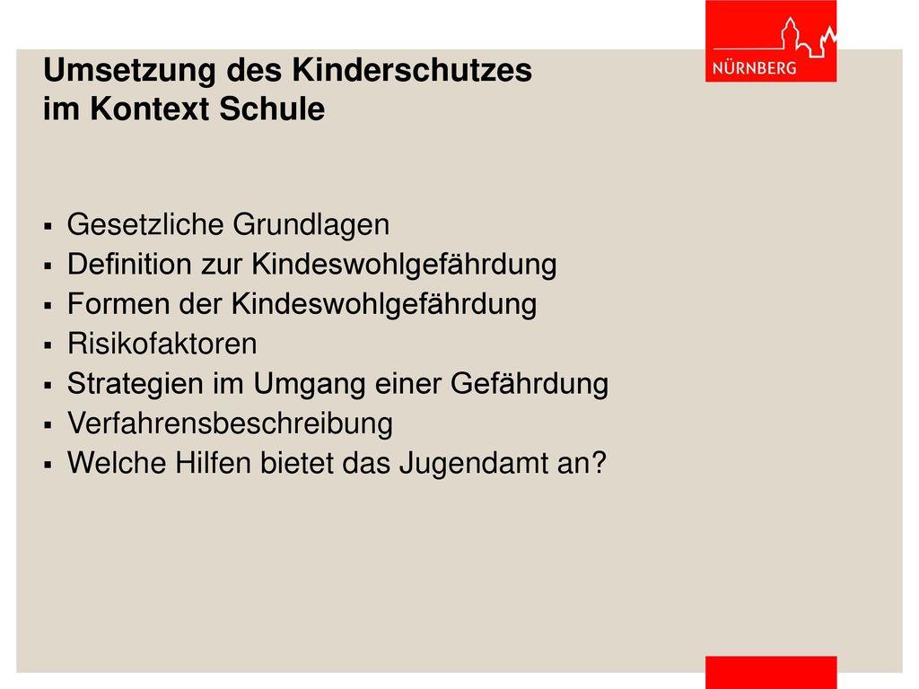 Umsetzung des Kinderschutzes im Kontext Schule