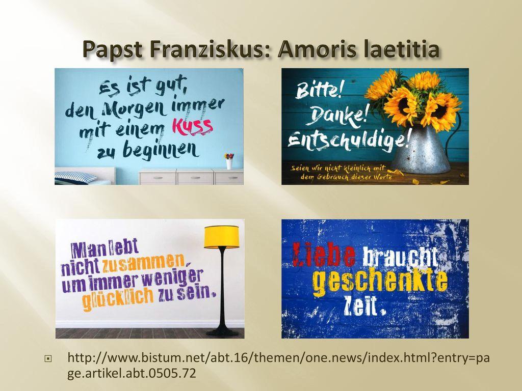 Papst Franziskus: Amoris laetitia