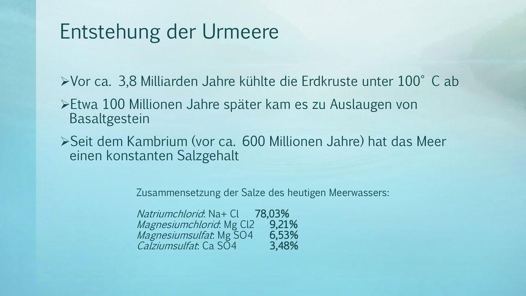 Entstehung der Urmeere