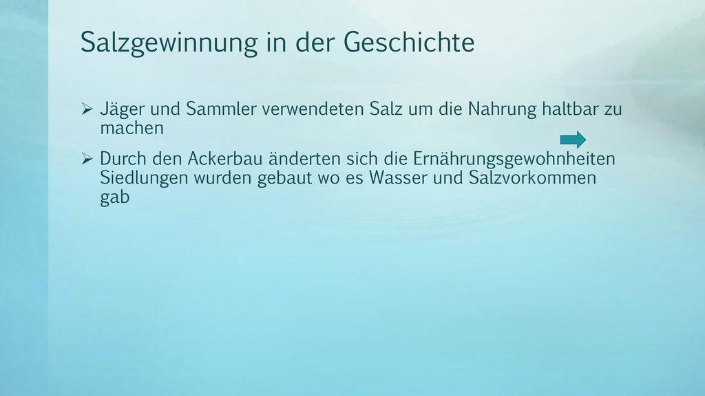 Salzgewinnung in der Geschichte