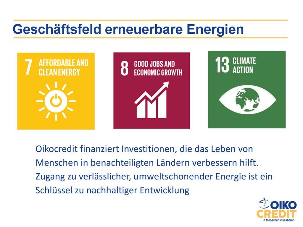 Geschäftsfeld erneuerbare Energien