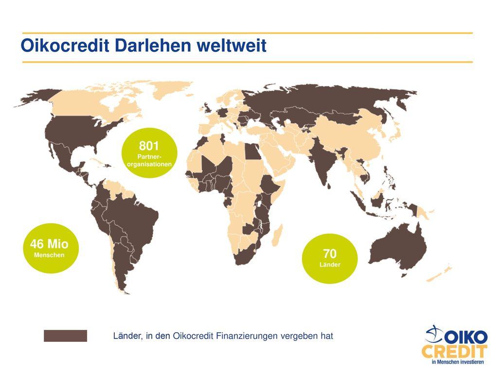 Oikocredit Darlehen weltweit