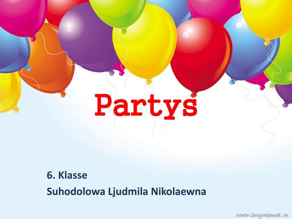 6. Klasse Suhodolowa Ljudmila Nikolaewna