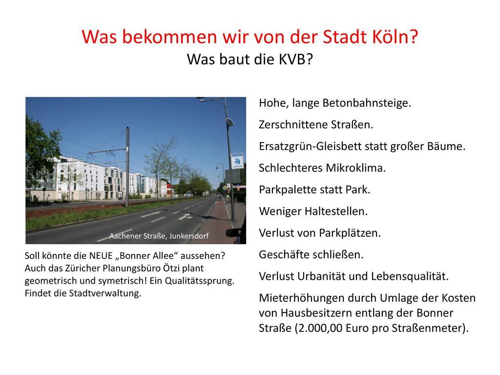 Was bekommen wir von der Stadt Köln