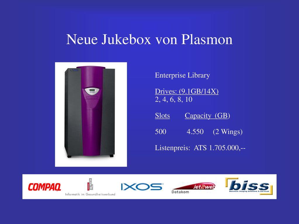 Neue Jukebox von Plasmon
