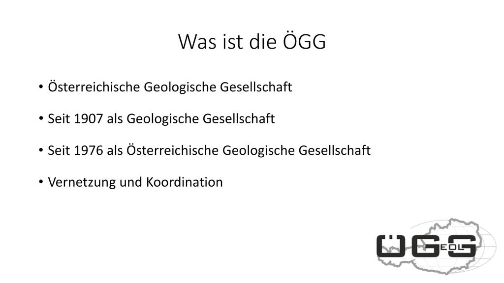 Was ist die ÖGG Österreichische Geologische Gesellschaft