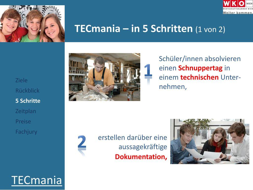 TECmania – in 5 Schritten (1 von 2)