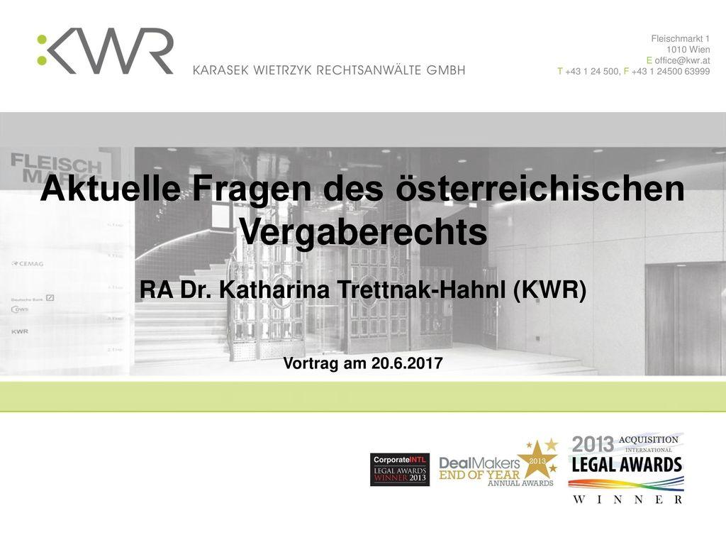 Hier der Titel Aktuelle Fragen des österreichischen Vergaberechts