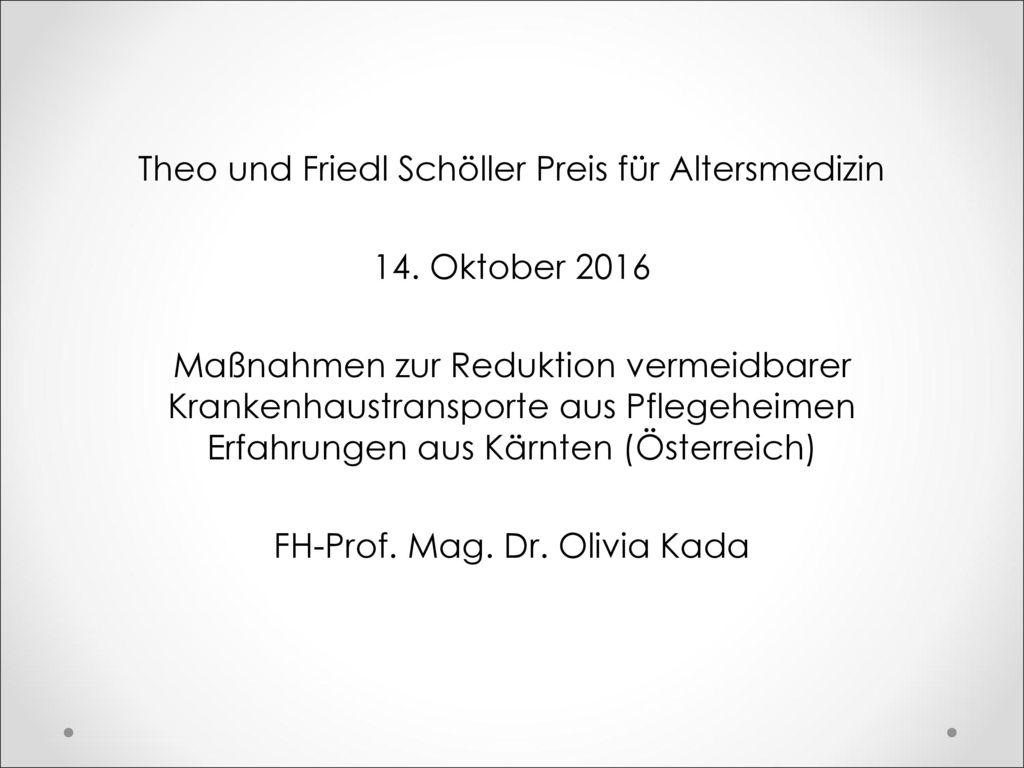 Theo und Friedl Schöller Preis für Altersmedizin 14