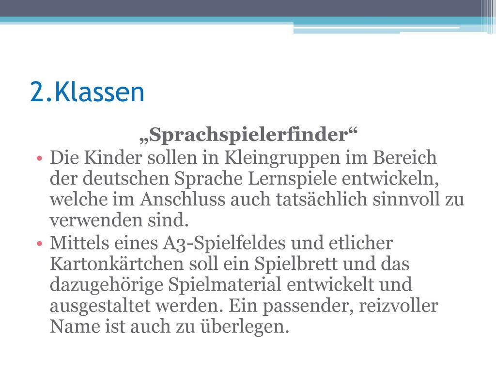 """""""Sprachspielerfinder"""