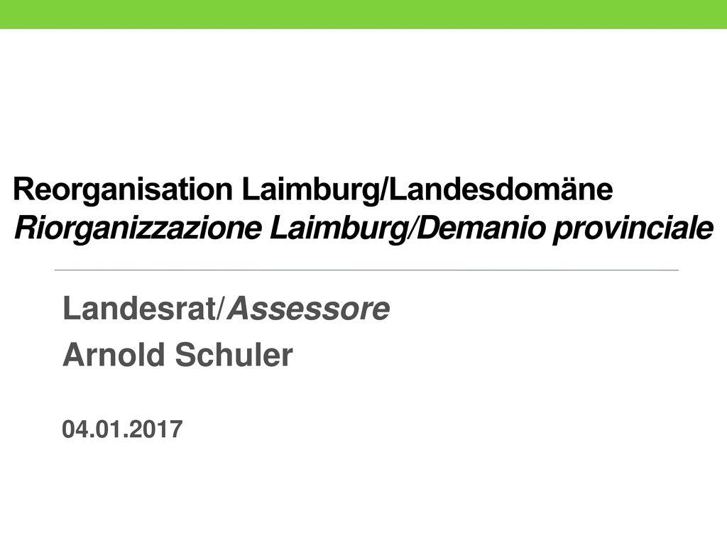 Landesrat/Assessore Arnold Schuler 04.01.2017