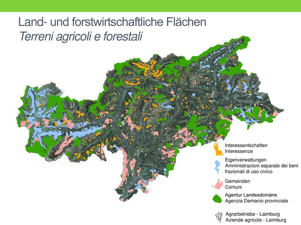 Land- und forstwirtschaftliche Flächen Terreni agricoli e forestali