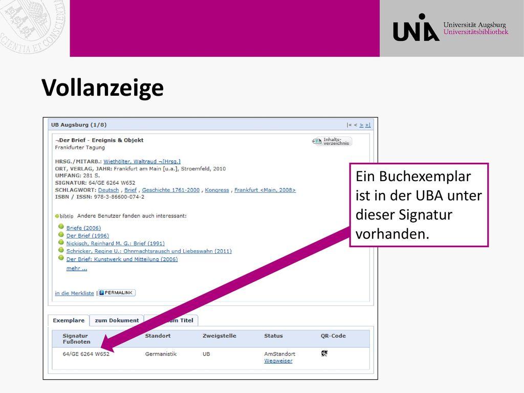 Vollanzeige Ein Buchexemplar ist in der UBA unter dieser Signatur vorhanden.