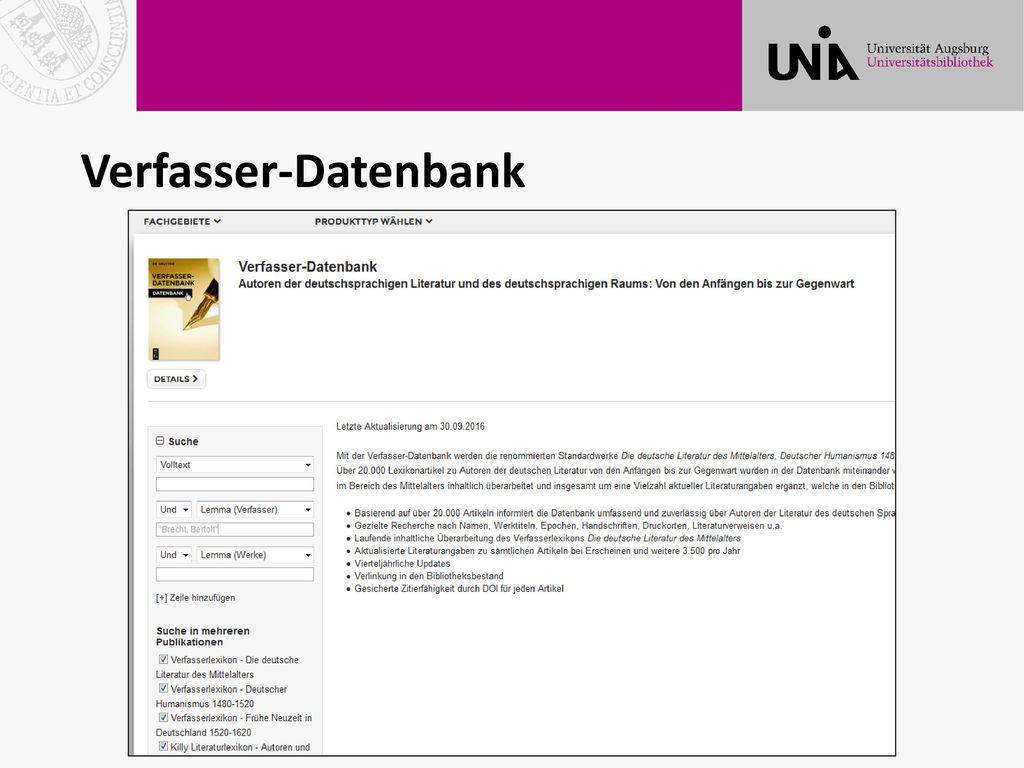 Verfasser-Datenbank