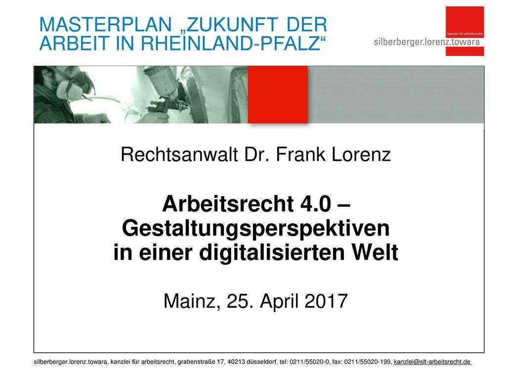 Rechtsanwalt Dr. Frank Lorenz